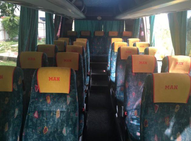 Транспортний засіб обладнаний усім необхідним для  комфортного обслуговування туристичних груп