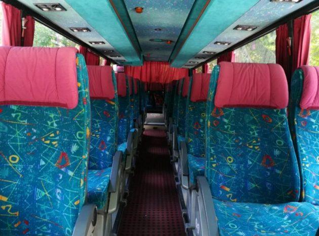 Комфортабельний салон автобуса Man для зустрічі туристів в аеропорту чи Ж/Д вокзалі Львів